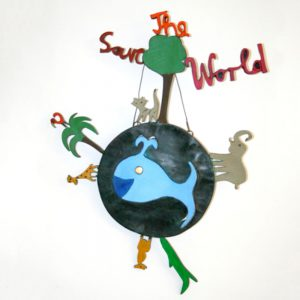 "Wandbild ""Save the World"""