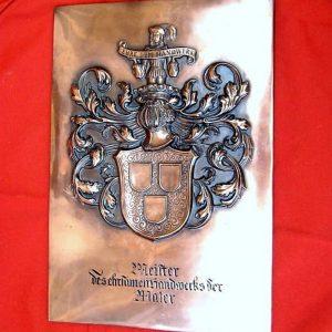 """Relief """"Maler"""" Meister des ehrsamen Handwerks"""